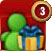 Click the gift icon to Invite Friends, Send Gifts, and/or Collect Gifts