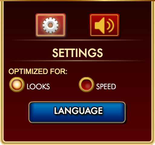 Choose Optimized for Speed to improve your game's performance if it is lagging.